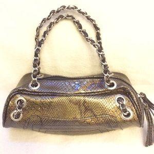 Bijoux Terner faux snakeskin leather mini handbag